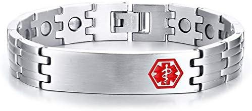 YL Magnetarmband für Herren Titan Energie Caduceus Armband Armreifen für die Gesundheit, (Gold/Stahl/Schwarz)
