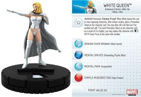 Marvel Heroclix 10th Anniversary White Queen counter top by NECA