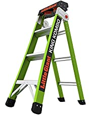 Little Giant Ladders, King Kombo, Professional, 4 ft. A Frame, 7 Ft. Extension, Fiberglass, Type 1AA, 375 lbs Weight Rating, (13470-001)