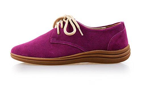 Summer Mae Mujer Zapatos de Cordones Con Muchos Colores Púrpura