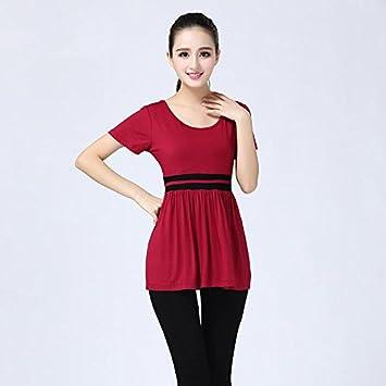 frac Camisa, Yoga Ropa ANZ š ¹ GE, red + Black Pants ...