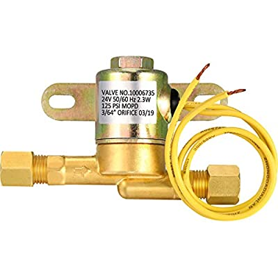 Humidifier Valve 4040 Solenoid Valve Brass Air Valve Compatible with Aprilaire Fit for 400 500 600 700 Humidifier 24 Volt from Mudder