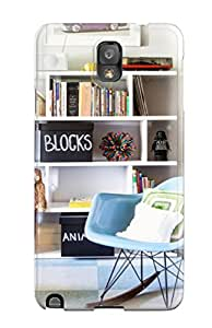 New Style For Galaxy Case, High Quality Blue Rocker With Creative Shelving In Boy8217s Bedroom For Galaxy Note 3 Cover Cases