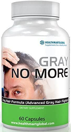 Anti Gray Hair Supplements - Vitamins Catalase Horsetail Paba Saw Palmetto Natural Herbal Vitamins