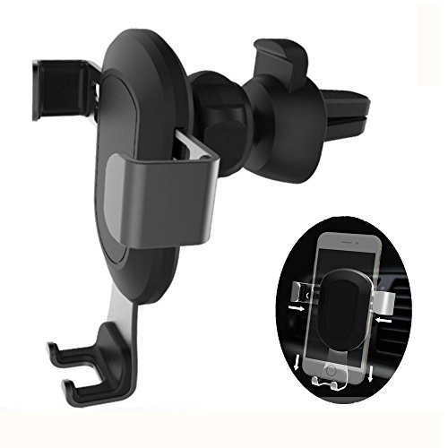 Price comparison product image Air Vent Cell Phone Car Holder Gravity design Car Phone Holder, One-Handed Performance Car Mount For iphone 7/7plus 6 6s, Samsung Galaxy S7 S6 and more Smartphone(Black) …