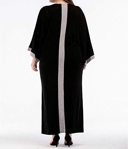 Taglia Abaya Maxi Oversize Musulmano Caftano Da Maniche A Donna Arabo Lungo Abito Pipistrello Islamico Abbigliamento Casual Zhbotaolang Unica SfPwaqv