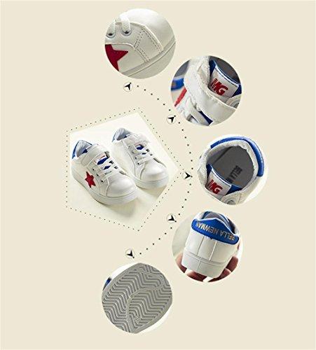 ALUK- Zapatos para niños Versión coreana de las estrellas Zapatos casuales Zapatos blancos Zapatos deportivos Zapatos para niños de la Junta ( Color : Azul , Tamaño : 31 ) Azul
