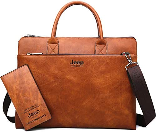 JEEP BULUO Briefcase Business Leather