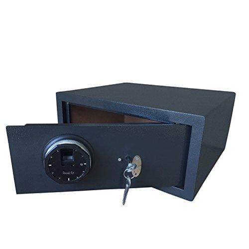 YONGCUN Safe Key Safe Fingerprint Safe Storage Box Size is 17 x 15 x 8