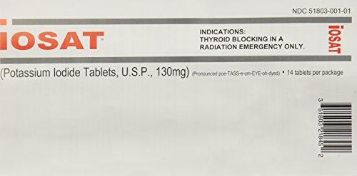 IOSAT 130 mg Potassium Iodide Tablets, 5 -