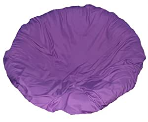 Purple papasan cushion cover and footstool Papasan cushion cover