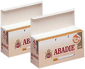 ABADIE 1000 Tubos Vacíos con Filtro de 15mm Para Tabaco de Liar (2 cajas de 500), Fabricado en España: Amazon.es: Salud y cuidado personal