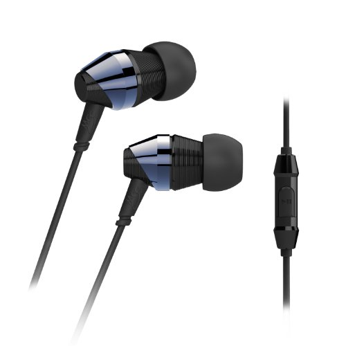 MEE audio M-Duo Dual Dynamic Driver In-Ear Headphone with Inline Microphone and Remote, Blue