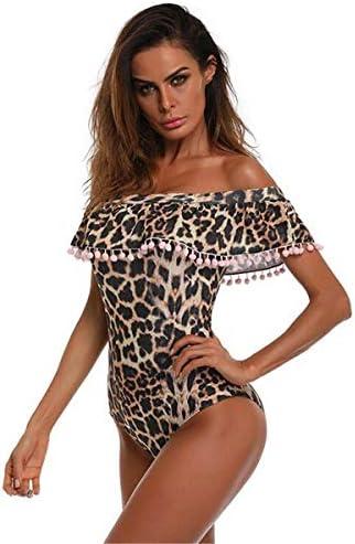Costume da Bagno per Madre e Figlia,Elegante Monokini Un Pezzo Bikini Set Leopardo Stampare Costumi da Bagno Swimsuit Sportivi Coordinati Beachwear Family Partita di Famiglia Regalo