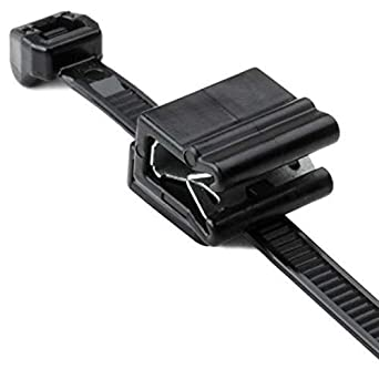 EC4B Outside Serrrated Black Hellermann Tyton 156-00861 Cable Tie and Edge Clip 8.0 Length PA66HS Pack of 500