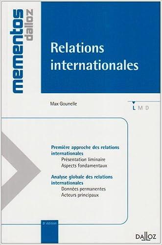 Relations internationales pdf ebook