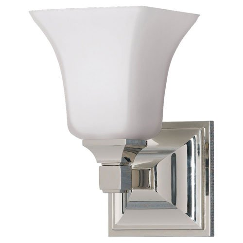 Feiss VS12401-PN 1-Bulb Vanity Light Fixture, Polished Nickel Finish