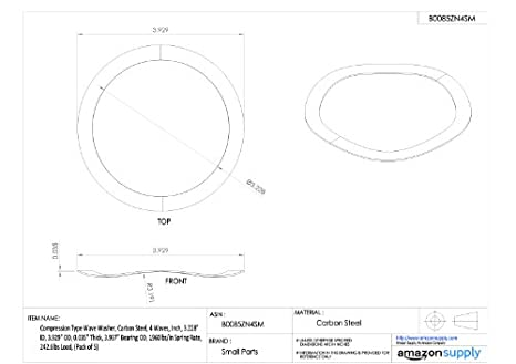 6204 6303 Arandela de Pre-Carga Ondulado EPL42 para adaptarse rodamientos 6005