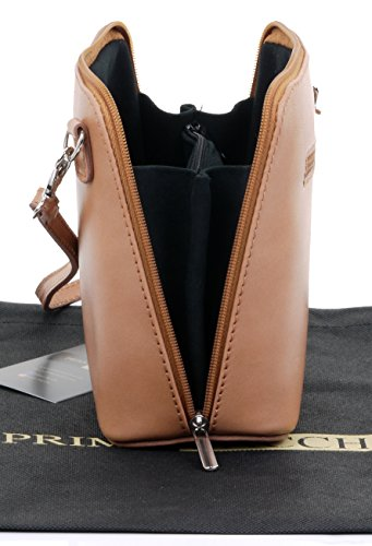 Bag a Protective Body Branded Bag Primo Hand Small Storage Leather Brown Includes Cross Italian Shoulder Bag Handbag Made Micro Earthy Sacchi® wqT4wO