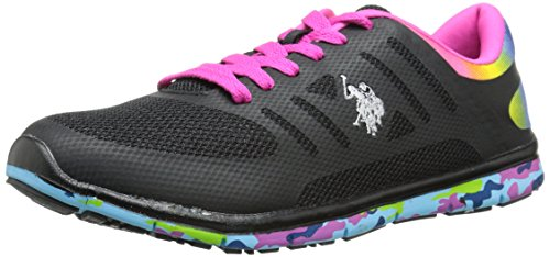 U.S. Polo Assn.(Women's) Miranda Fashion Sneaker, Black/Multi, 7 M US