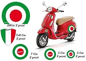 Gamesmonkey Aufkleber Vespa Set Piaggio Vespa Flags Italien