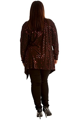 Ladies Polka Party Plus Nouvelle Foil Sale Open Cardigan Red Womens Size Collection Jacket New Dot Front dUXqwPdx