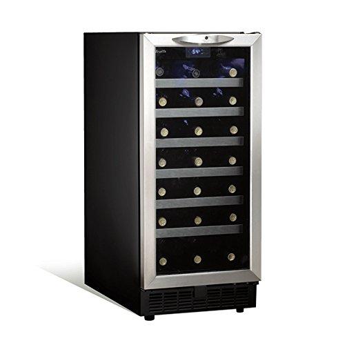 - Danby DWC1534BLS 3.7 Cu. Ft. 34-Bottle Silhouette Wine Cooler - Black/Stainless
