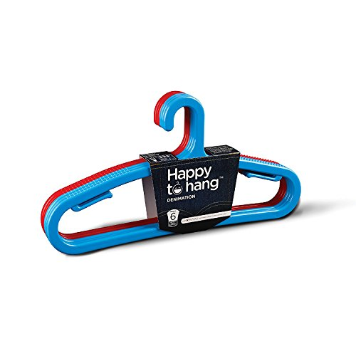 Happy To Hang Denimation Polypropylene Hanger (Blue and Red)