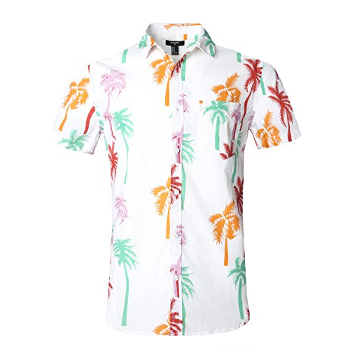 - NUTEXROL Hawaiian Shirts Mens Bamboo Print Beach Aloha Party Holiday print3 3XL