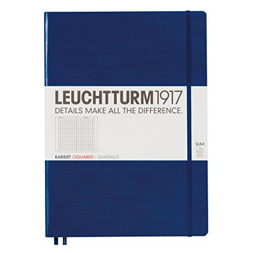 Leuchtturm1917 Navy / Blue Hard Cover Squared Master Slim Notebook,225 x 315mm