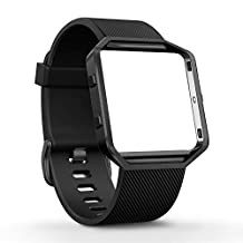 Fitbit Blaze Band, amBand Silicone Replacement Band Sport Strap with Rose Gold Frame for Fitbit Blaze Smart Fitness Watch, Small, Large