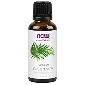 NOW Essential Oils, Rosemary Oil, Purifying Aromatherapy Scent, Steam Distilled, 100% Pure, Vegan, Child Resistant Cap, 1-Ounce