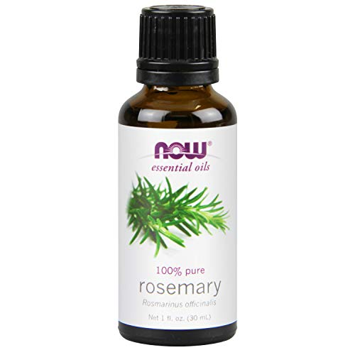 NOW Essential Oils, Organic Rosemary Oil, Purifying Aromatherapy Scent, Steam Distilled, 100% Pure, Vegan, 1-Ounce