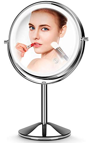 Makeup Mirror with Light,10X Magnification Makeup Mirror,JOMARTO Vanity Mirror,Double Sided Dimmable Cosmetic Mirror…