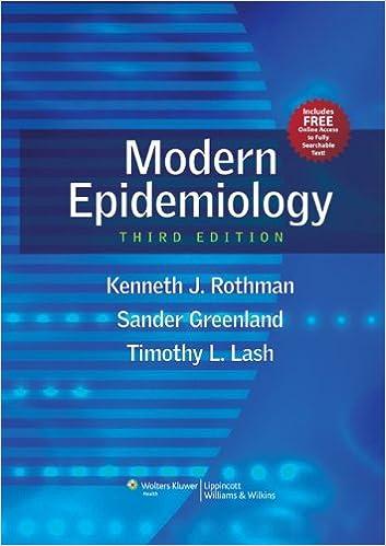 Modern Epidemiology Kenneth J Rothman Timothy L Lash Associate