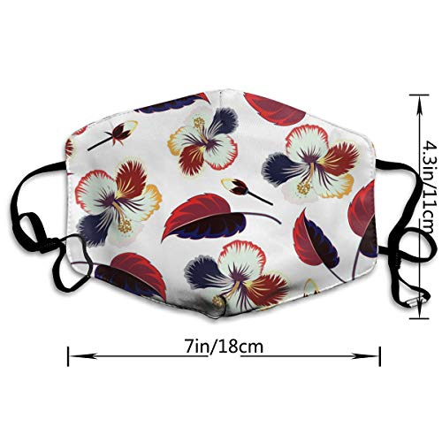 Dust Mask Spectacular Flowers and Leaves Fashion Anti-dust Reusable Cotton Comfy Breathable Safety Mouth Masks Half Face Mask for Women Man Running Cycling Outdoor