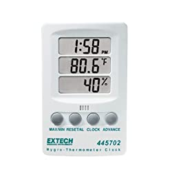 Extech 445702 Indicator Relative Humidity/Temperature with Clock
