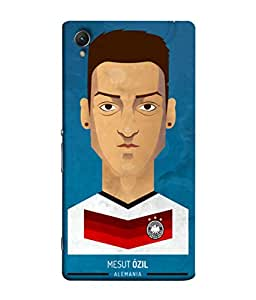 ColorKing Football Ozil Germany 01 Blue shell case cover for Sony Xperia Z5 Premium