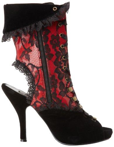 Pat Femme Blk red Funtasma Velvet Bottes X5nHqH