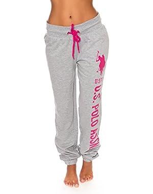 Women's Graphic French Terry Pajama Sleepwear Sweat Pants