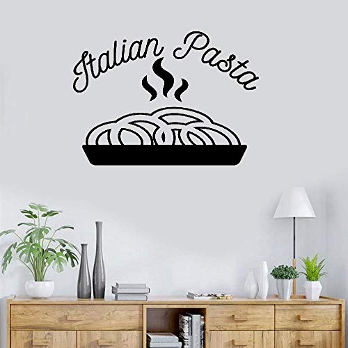 - Hetsa Wall Stickers Art Decor Vinyl Peel and Stick Mural Removable Decals Italian Pasta for Kitchen Dining Room Restaurant