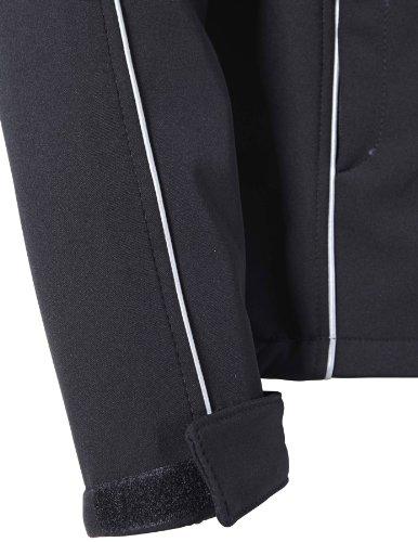 PIONIER WORKWEAR Herren Softshell-Jacke unisex in schwarz (Art.-Nr. 2984) schwarz,Größe XXL