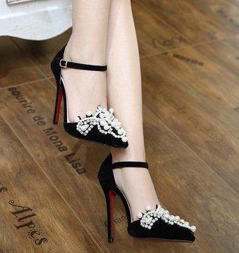 Des Zhudj Très Black Diamond Talons Avec À Hauts Fines Bien Chaussures Sandales Fait Club 6IFqpH1I