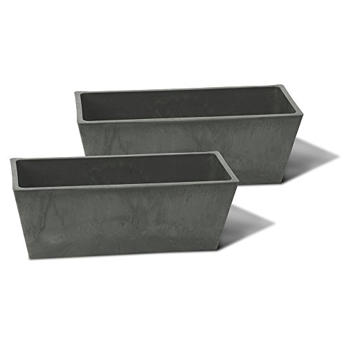 Algreen Valencia Windowsill Planter (2 Pack), 14 by 6 by 5.5