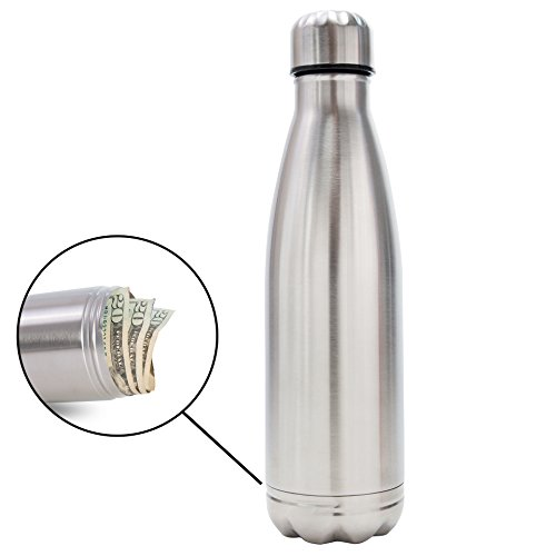 Diversion Water Bottle Can Safe   Stainless Steel Tumbler Safe by Stash-it   Bottom Unscrews to Store Your Valuables! by Stash-it (Image #7)