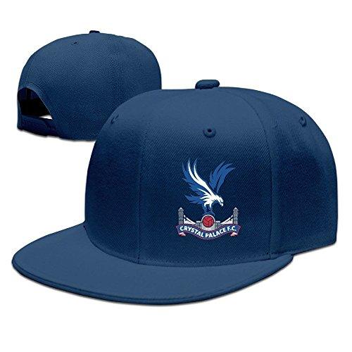 Navy Premier Buffalo (Runy Custom Crystal Palace Premier League Adjustable Baseball Hat & Cap Navy)
