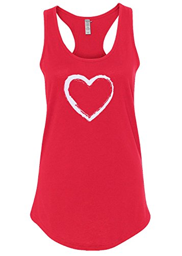 Distressed Heart (Mixtbrand Women's Distressed Heart Valentine's Day Racerback Tank Top L Red)