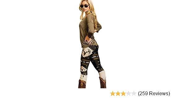 e7794c1d92dd5 Perman Womens' Printed Stretchy Pants Skinny Leggings Pants (S, Black) at  Amazon Women's Clothing store: