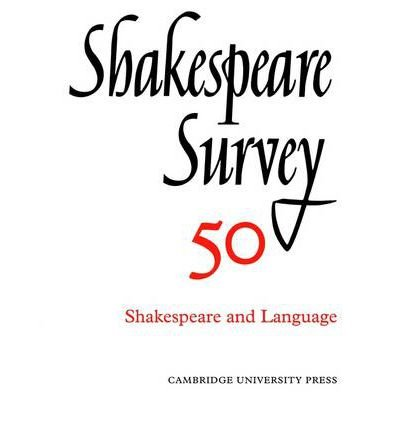 [(Shakespeare Survey: Shakespeare and Language v.50)] [Author: Stanley W. Wells] published on (May, 2003) ebook