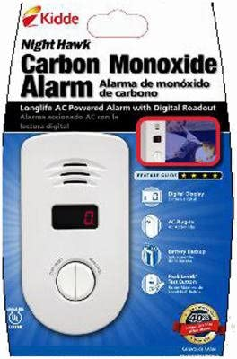 Kidde 900-0234 NightHawk Carbon Monoxide Alarm, Long Life AC Powered with Battery Backup and Digital Display - Carbon Monoxide Detectors - Amazon.com